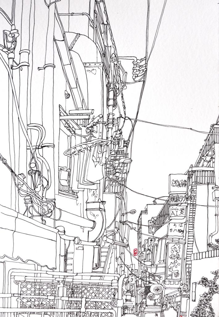 (c) Confais Tokyo 30x40 encre sur papier