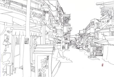(c) Confais Asakusa 30x40 encre sur papier
