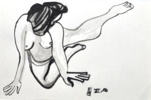 10 x 15 cm L'équerre (c) Confais Encre, aquarelle et techniques diverses sur papier