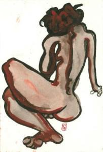 10 x 15 cm Le Sanglots Rouges (c) Confais Encre, aquarelle et techniques diverses sur papier