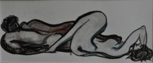 40 x 60 cm La Sieste (c) Confais Encre, aquarelle et techniques diverses sur papier