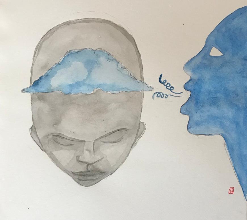 (c) Confais 2019 - Anima - aquarelle et encre de chine sur papier - 20x30