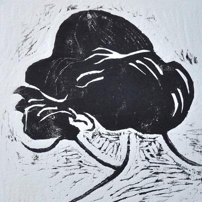 (c) Confais La Coiffure (détail) 40x50 Gravure sur bois