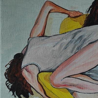 (c) Confais Reflet1 (détail) 40 x 60 cm Acrylique sur toile